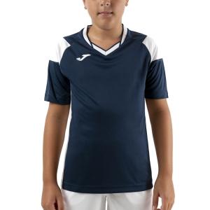 Tennis Polo and Shirts Joma Crew III TShirt Boys  Dark Navy/White 101269.332
