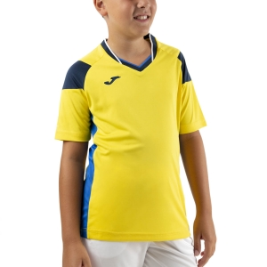Tennis Polo and Shirts Joma Crew III TShirt Boys  Yellow/Royal/Dark Navy 101269.907