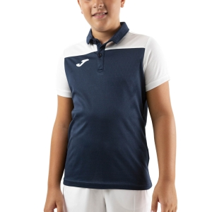 Polo y Camisetas de Tenis Joma Crew III Polo Nino  Dark Navy/White 101371.332