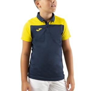 Tennis Polo and Shirts Joma Crew III Polo Boys  Dark Navy/Yellow 101371.339