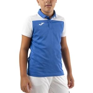 Tennis Polo and Shirts Joma Crew III Polo Boys  Royal/White 101371.702
