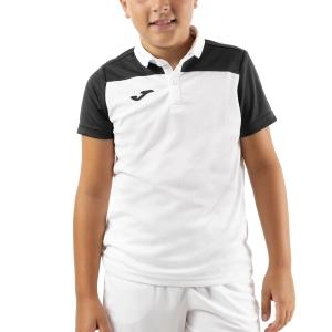 Polo y Camisetas de Tenis Joma Crew III Polo Nino  White/Black 101371.201