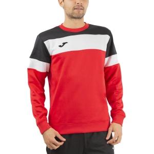 Men's Tennis Shirts and Hoodies Joma Crew IV Hoodie  Red/Black/White 101575.601