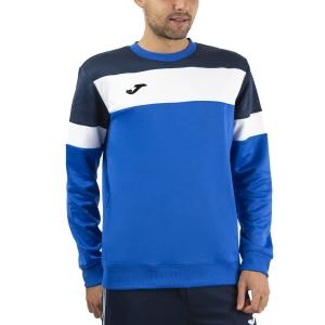 Men's Tennis Shirts and Hoodies Joma Crew IV Hoodie  Royal/Dark Navy/White 101575.703