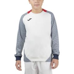 Joma Essential II Sweatshirt Boys - White/Red/Dark Navy