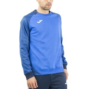 Men's Tennis Shirts and Hoodies Joma Essential II Sweatshirt  Royal/Dark Navy 101510.703