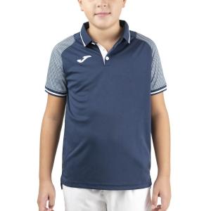 Tennis Polo and Shirts Joma Essential II Polo Boy  Dark Navy/White 101509.332