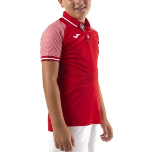 Tennis Polo and Shirts Joma Essential II Polo Boy  Red/White 101509.602