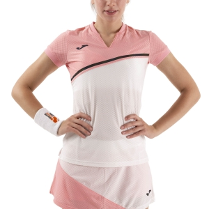 Women`s Tennis T-Shirts and Polos Joma Misiego Classic TShirt  Pink/White 900976.205