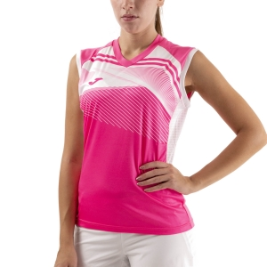 Women`s Tennis Tanks Joma Supernova II Tank  Fluor Pink/White 901126.030