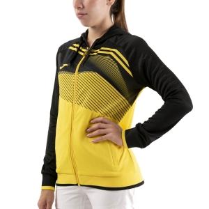 Women's Tennis Shirts and Hoodies Joma Supernova II Hoodie  Yellow/Black 901067.901