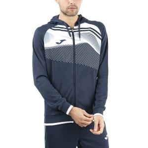 Men's Tennis Shirts and Hoodies Joma Supernova II Hoodie  Dark Navy/White 101605.332