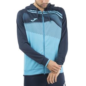 Men's Tennis Shirts and Hoodies Joma Supernova II Hoodie  Fluor Turquoise/Dark Navy 101605.013
