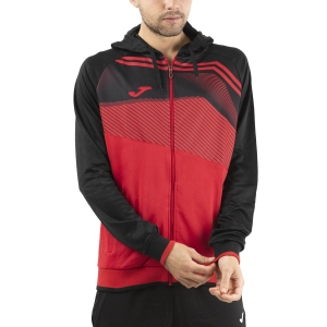 Men's Tennis Shirts and Hoodies Joma Supernova II Hoodie  Red/Black 101605.601