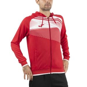Men's Tennis Shirts and Hoodies Joma Supernova II Hoodie  Red/White 101605.602