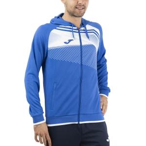 Men's Tennis Shirts and Hoodies Joma Supernova II Hoodie  Royal/White 101605.702