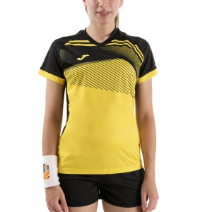 Women`s Tennis T-Shirts and Polos Joma Supernova II TShirt  Yellow/Black 901066.901
