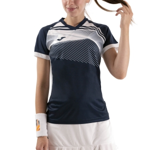 Women`s Tennis T-Shirts and Polos Joma Supernova II TShirt  Dark Navy/White 901066.332