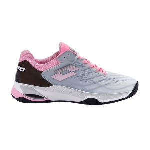 Women`s Tennis Shoes Lotto Mirage 100 Clay  All White/Pink 920C/All Black 2107386VL