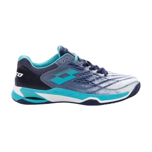 Scarpe Tennis Uomo Lotto Mirage 100 Clay  All White/Ceramic Blue/Navy Blue 2107316VC