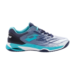 Calzado Tenis Hombre Lotto Mirage 100 Speed  All White/Ceramic Blue/Navy Blue 2107326VC