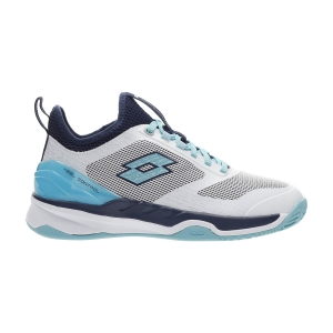 Scarpe Tennis Donna Lotto Mirage 200 Clay  All White/Blue Radiance/Navy Blue 2136336VN