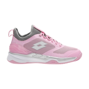 Women`s Tennis Shoes Lotto Mirage 200 Clay  Pink 920C/All White/Cool Grey 7C 2136336VM