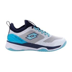 Women`s Tennis Shoes Lotto Mirage 200 Speed  All White/Blue Radiance/Navy Blue 2136346VN