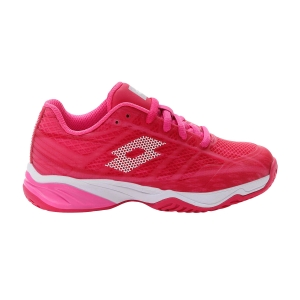 Junior Tennis Shoes Lotto Mirage 300 All Round Girl  Vivid Fuchsia/All White/Glamour Pink 2107466VW