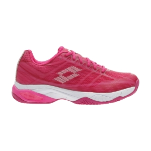 Women`s Tennis Shoes Lotto Mirage 300 Clay  Vivid Fuchsia/All White/Glamour Pink 2107406VW