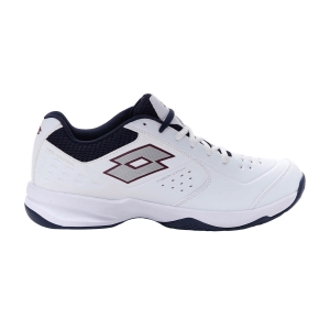 Men`s Tennis Shoes Lotto Space 600 II All Round  All White/Silver Metal 2/Navy Blue 2136301KH