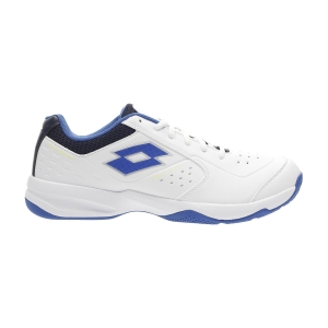 Men`s Tennis Shoes Lotto Space 600 II All Round  All White/Lapis Blue/Navy Blue 2136306VJ