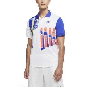 Men's Tennis Polo Nike Advantage Polo  White/Ultramarine/Solar Red/Ultramarine CK9793100