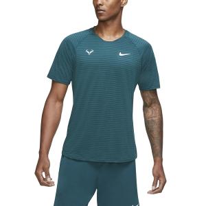 Men's Tennis Shirts Nike Aeroreact Rafa Slam TShirt  Dark Atomic Teal/White CI9152300