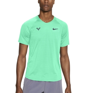 Men's Tennis Shirts Nike Aeroreact Rafa Slam TShirt  Green Glow/Thunder Blue CI9152342