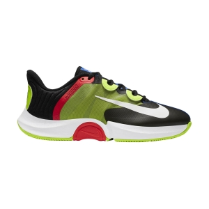 Scarpe Tennis Uomo Nike Air Zoom GP Turbo HC  Black/White/Volt/Laser Crimson CK7513002