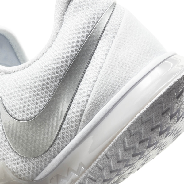 Nike Air Zoom Vapor Cage 4 HC - White/Metallic Silver/Grey Fog