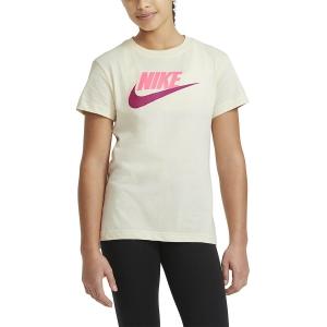Top y Camisetas Niña Nike Basic Futura Camiseta Nina  Coconut Milk AR5088113