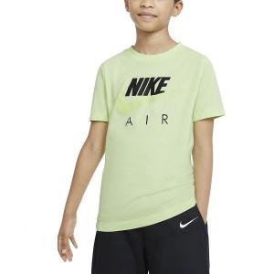 Polo e Maglie Tennis Nike Big Air Maglietta Bambino  Light Liquid Lime CZ1828383