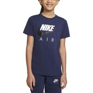 Polo y Camisetas de Tenis Nike Big Air Camiseta Nino  Midnight Navy/Black CZ1828411