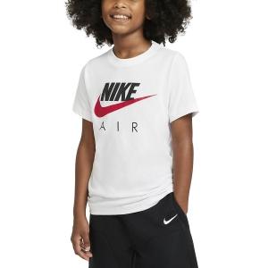 Polo e Maglie Tennis Nike Big Air Maglietta Bambino  White/University Red CZ1828100