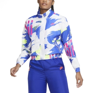 Tennis Women's Jackets Nike Challenge Court Jacket  White/Sapphire/Hot Lime/Pink Foil CQ9176100
