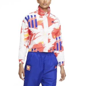 Chaquetas de Tenis Mujer Nike Challenge Court Chaqueta  White/Solar Red/Citrus/Ultramarine CQ9176101