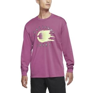 Men's Tennis Shirts and Hoodies Nike Challenge Court Shirt  Cosmic Fuchsia CW1530686
