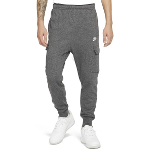 Pantalones y Tights Tenis Hombre Nike Club Cargo Pantalones  Charcoal Heather/Anthracite/White CZ9954071