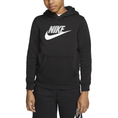 Nike Club Fleece Felpa Bambino - Black/Light Smoke Grey