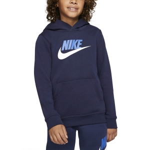 Boy Tracksuit and Hoodie Nike Club Fleece Hoodie Boy  Midnight Navy CJ7861410