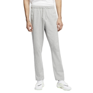 Pantaloni e Tights Tennis Uomo Nike Club Fleece Pantaloni  Dark Grey Heather/White BV2766063