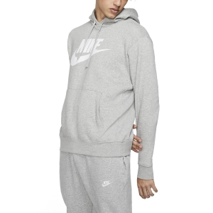 Camisetas y Sudaderas Hombre Nike Club Graphic Sudadera  Dark Grey Heather/Matte Silver/White BV2973063