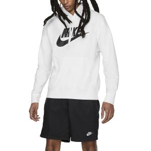 Maglie e Felpe Tennis Uomo Nike Club Graphic Felpa  White/Black BV2973100